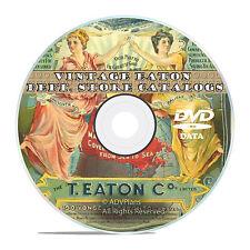 Eaton's Department Store, 14 Vintage Catalogs, 1884 - 1920,  on DVD V41