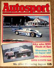 Autosport 9/9/82* TWR JAGUAR XJS TRACK TEST - SPA 1000K - BMW 528i POSTER