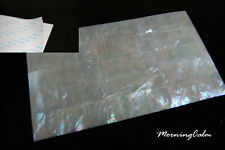 White Mother of Pearl Adhesive Veneer Sheet (MOP Shell Overlay Nacre Inlay)