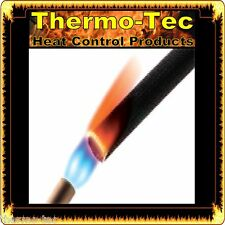 Insultherm - 6.4mm x 1.8m - Black Protective Heat Shield Sleeve up to 650°C