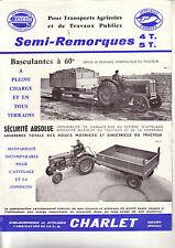 Prospectus   Remorques CHARLET Tracteur  FORDSON    Non daté  brochure catalogue