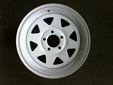 """Sunraysia 14"""" Ford Rim- White! Trailer Parts"""