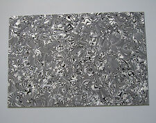 White/Black Shell 3 Ply Blank Pickguard Scratch Plate Material Sheet 290x430(mm)