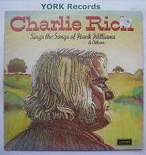 CHARLIE RICH - Sings The Songs Of Hank Williams - Ex LP Record London ZGU 136
