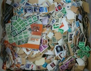 Job Lot Mixed Stamps Off/On Paper - UK/International - 5kg (Lot 1) (Hospiscare)