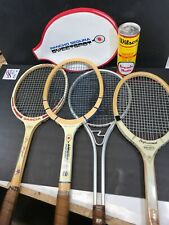 Tennis Racquet Lot Of 4 & Wilson Balls.  Vintage.  Nice And Clean.   COLLECTORS