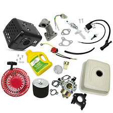New Tune Up Kit Muffler Fuel Tank Fits Honda GX390 Carburetor Recoil Air Filter