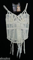 M&S Autograph Sizes 30-34 A-DD French Designed Lace Basque Suspenders Bnwt £45