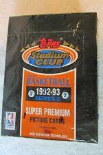 92-93 Topps Stadium Club Factory Sealed Box Series 2 NBA Basketball Cards Jordan