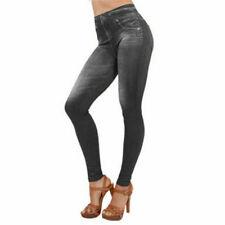 Leggins Fuseaux leggins pantaloni donna effetto modellante sexy elastico jeans