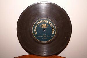 "RARE Antique 7"" ZON-O-PHONE 5975 Phonograph Gramophone 1900 Record BERLINER Era"