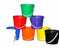 35 80 Ounce Sand Beach Buckets Mix of Colors Made USA Lead Free