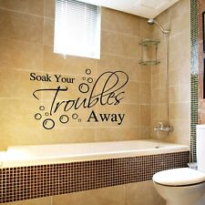 New Removable Decal Art Mural Home Bathroom Decor Quote Wall Sticker Word