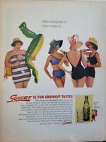 Lot of 3 Vintage 1962 Squirt Ad Grownup Tastes