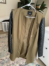 H&M Jacket Size 10 Faux Leather Army Green New Without Tags