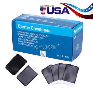 300X/Box Size 2 Barrier Envelopes for Dental X Ray Digital Phosphor Plate Sensor