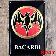 Metal Tin Sign bacardi  rum Pub Home Vintage Retro Poster Cafe ART