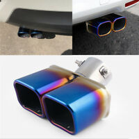"""Square Weld On Car Exhaust Tip 2.5"""" Inlet Outlet Tip Tail Exhaust Muffler Pipe"""