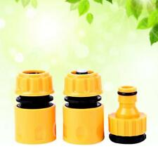 "3PC/Set 1/2""3/4"" Garden Hose Water Pipe Quick Connector Tube Fitting Tap-Adapter"