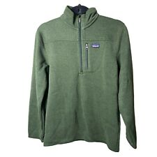 Patagonia Boy's Green Better Sweater Zip Neck Size XL NWT