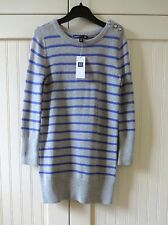 GAP Kids Girls Size 4-5 NWT Gray Purple Stripe Knit Sweater Dress $40
