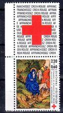 FRANCE TIMBRE CROIX ROUGE AVEC VIGNETTE 2498 ** MNH G FUITE EN EGYPTE ANE - 1987