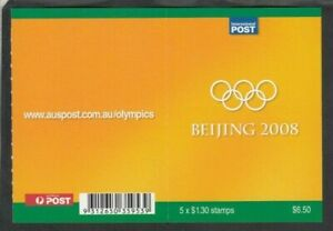 2008 OLYMPICS $6.50 BOOKLET, Mint Never Hinged