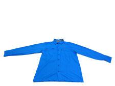 Under Armour Men's M Blue Flats Guide Ii Long Sleeve Button Down Fishing Shirt