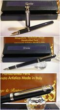 stilografica DUKE Black Lacquer 962 fountain Pen - Stylo  Nib F/M