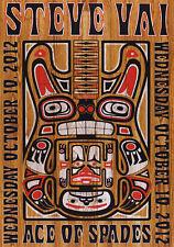 Steve Vai 2012 Sacramento, Ca Original Concert Poster (Light)