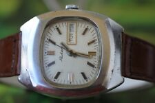 MEN'S VINTAGE USSR RAKETA WATCH 17 JEWELS WITH DOUBLE DATE!