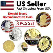 Donald Trump 2020 Challenge Keep America Great Commemorative Coin Eagle 3 PCS