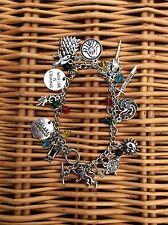 FREE GIFT BAG  Silver Game of Thrones 7 Kingdoms Charm Bracelet Ladies Jewellery