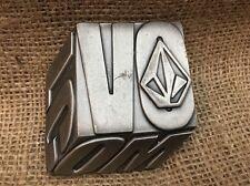 VOLCOM Metal Belt Buckle 3D Design w/ Free Shipping