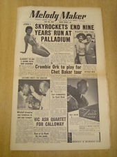 MELODY MAKER 1955 JULY 30 SKYROCKETS TONY CROMBIE LOUIS ARMSTRONG JAZZ SWING