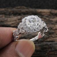 2.00 Ct Cushion Cut Diamond Vintage Engagement Wedding Ring 10K White Gold