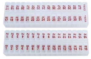 Twice a Day Monthly Pill Planner ITEM# 310X2 RED
