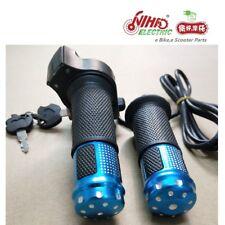 15 12V-72V Ebike Twist Grip Throttle With Power Lock And LED Digital Voltage