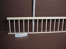 Dollhouse Miniature Assembled Railing Square Spindles Handcrafted Basswood
