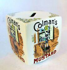 Colman's Mustard Porcelain England Bank Victorian Advertisement Repro Piggy Bank
