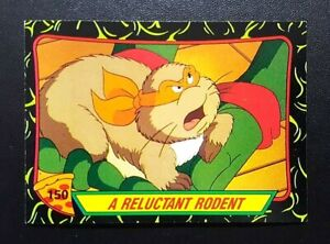 1989 Topps Teenage Mutant Ninja Turtles Card 2nd Series #150 A Reluctant Rodent