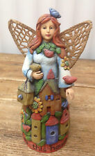 Copper Honey Farms Birdhouse Angel 33125 Linda Jacque Figurine Love House Home
