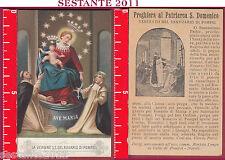 3385 SANTINO HOLY CARD MADONNA SS. DEL ROSARIO POMPEI PREGHIERA S. DOMENICO
