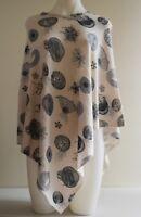 Pashmina Poncho Cashmere Wool Cape Wrap Soft Warm Women Long Sleeve 35