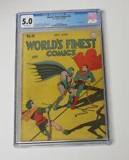 World's Finest #19 CGC 5.00 Batman Superman 1945 Golden Age Joker story Rare