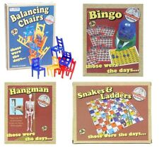 Traditional Retro Games Bingo,Snakes & Ladders,Balancing Chairs,Hangman Toys