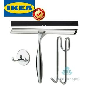 IKEA SKOGHALL Squeegee with Hanger Shower Cleaning Self-adhesive Hanger