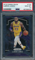 2019 Panini Prizm 129 LeBron James Base PSA 10 GEM MINT