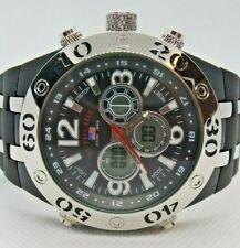 U.S Polo Assn. Mens quartz japan Movement rubber strap watch