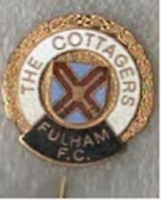 Fulham FC The Cottagers enamel lapel badge